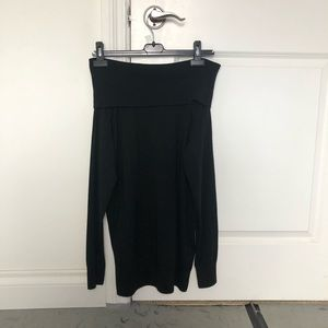 women's aritzia black off the shoulder sweater